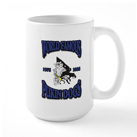 US NAVY VF-143 PUKIN DOGS Large Mug