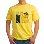 They Will Come Snowmobile Yellow T-Shirt