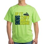They Will Come Snowmobile Green T-Shirt