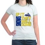 They Will Come Snowmobile Jr. Ringer T-Shirt