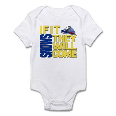 They Will Come Snowmobile Infant Bodysuit