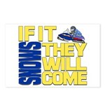 They Will Come Snowmobile Postcards (Package of 8)