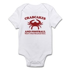 Crabcakes and Football Onesie