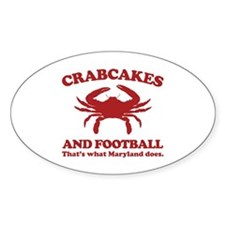 Crabcakes and Football Oval Decal