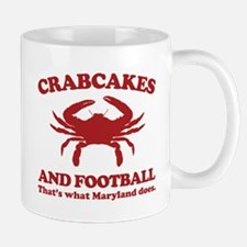 Crabcakes and Football Mug