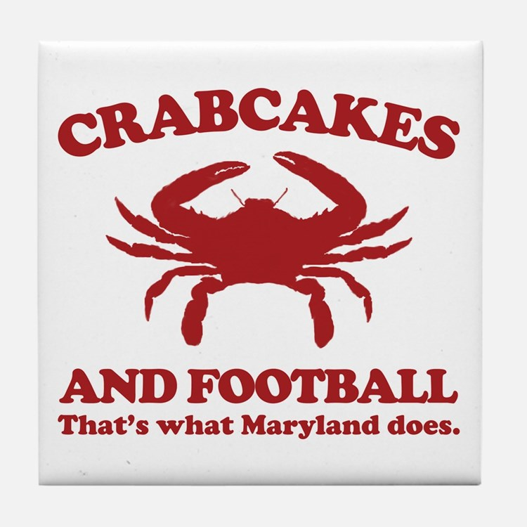 Crabcakes and Football Tile Coaster
