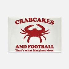 Crabcakes and Football Rectangle Magnet