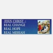 Jesus the Real Messiah Bumper Bumper Bumper Sticker