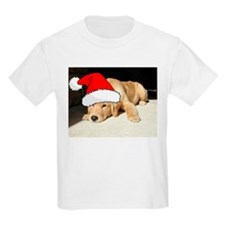Christmas Golden Retriever PuppyP T-Shirt