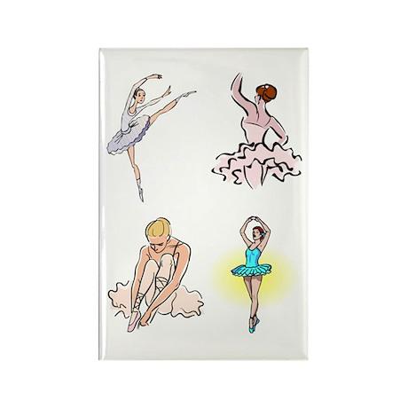 Ballet Rectangle Magnet