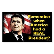 A REAL President Rectangle Decal