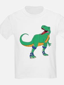 Dino with Leg Braces T-Shirt