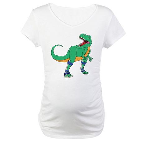 Dino with Leg Braces Maternity T-Shirt