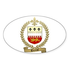 TERRIOT Family Crest Oval Decal
