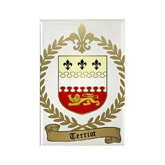 TERRIOT Family Crest Rectangle Magnet