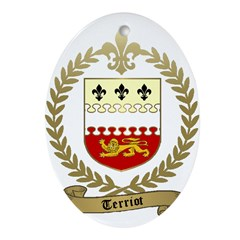 TERRIOT Family Crest Oval Ornament