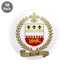 "TERRIOT Family Crest 3.5"" Button (10 pack)"