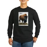American bison Long Sleeve T-shirts (Dark)