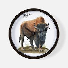 American Bison (Buffalo) Wall Clock