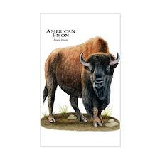 American Bison (Buffalo) Rectangle Decal