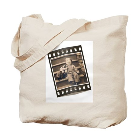 Child and his Stafford Tote Bag