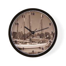 Historic Schooner Wall Clock