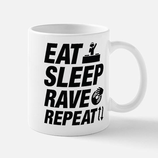 Eat Sleep Rave Repeat Mug