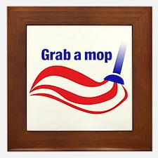 Grab a mop Framed Tile