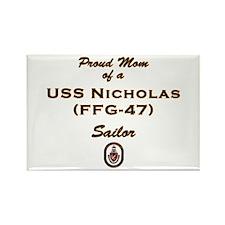 USS Nicholas Mom Rectangle Magnet