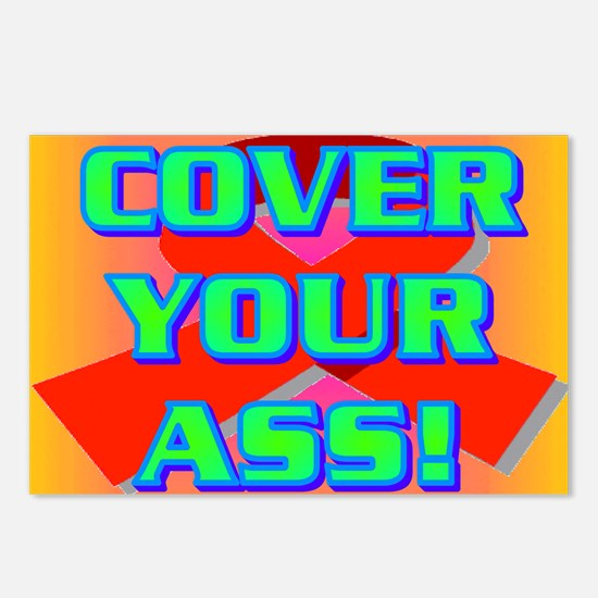COVER YOUR ASS! Postcards (Package of 8)