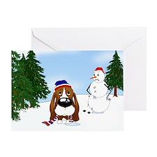 Basset Hound Holiday Greeting Card