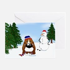 Basset Hound Holiday Greeting Card