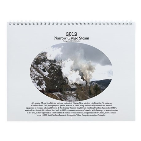 2013 Narrow Gauge Railroad Wall Calendar