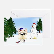 French Bulldog Holiday Greeting Card