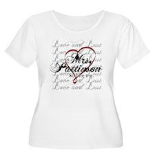 MrsPattinsonRibbonHeart Plus Size T-Shirt