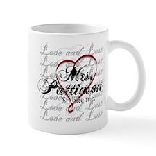 MrsPattinsonRibbonHeart Mugs