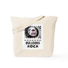 BULL DOGS ROCK Tote Bag