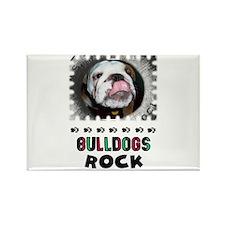 BULL DOGS ROCK Rectangle Magnet