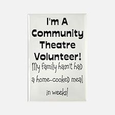Community Theatre Volunteer Rectangle Magnet