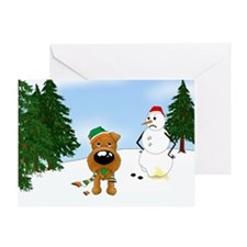 Irish Terrier Holiday Greeting Card