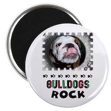 """BULL DOGS ROCK 2.25"""" Magnet (100 pack)"""