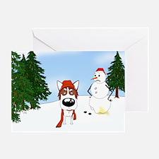 Siberian Husky Holiday Greeting Card