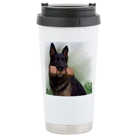 German Shepherd Mic Stainless Steel Travel Mug