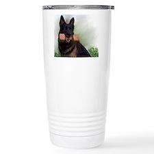 German Shepherd Mic Travel Coffee Mug
