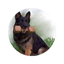 "German Shepherd Mic 3.5"" Button (100 pack)"