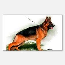 German Shepherd Obedience Sta Rectangle Decal