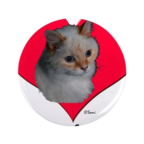 """Kekoe the Cat's Valentine 3.5"""" Button (100 pack)"""