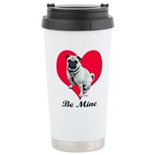 My Puggy Valentine Travel Coffee Mug