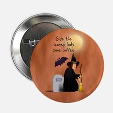 "Witch before her morning coff 2.25"" Button"