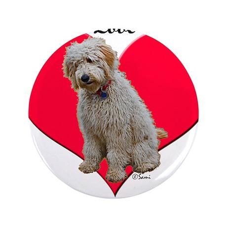 "Golden Doodle Love Dad 3.5"" Button (100 pack)"